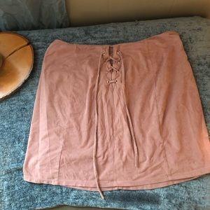 Mauve color skirt